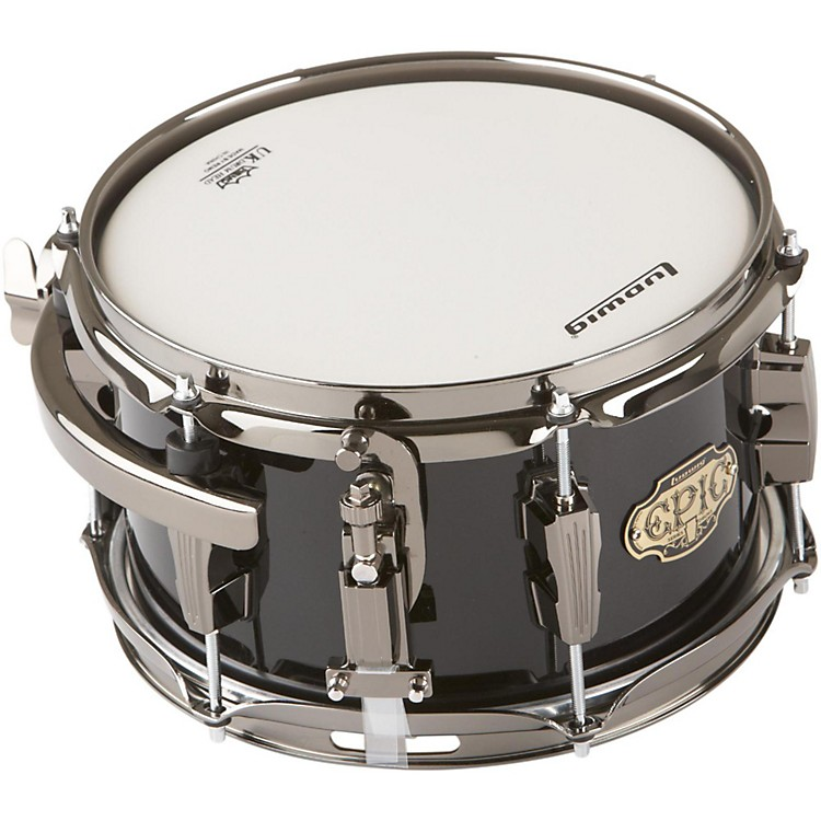 Ludwig Epic Side Snare Drum with Mount Transparent Black 6x10