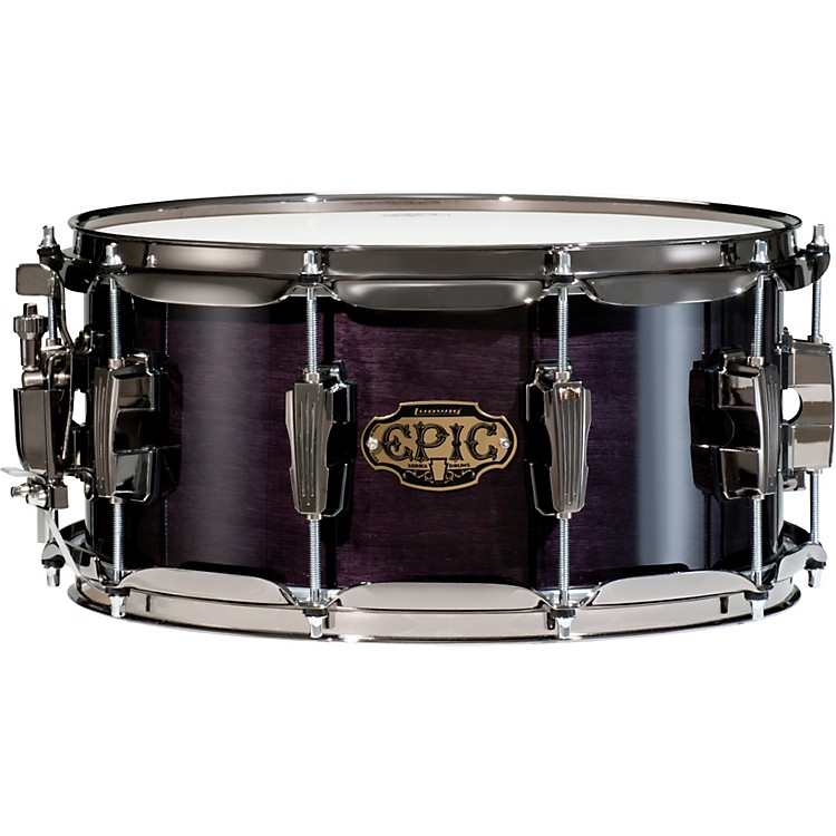 Ludwig Epic Snare Drum Transparent Black 6.5x13
