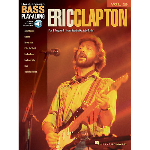 Hal Leonard Eric Clapton (Bass Play-Along Volume 29) Bass Play-Along Series Softcover with CD by Eric Clapton-thumbnail