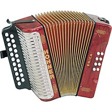 Hohner Erica Two-Row Accordion Level 1 AD Pearl Red