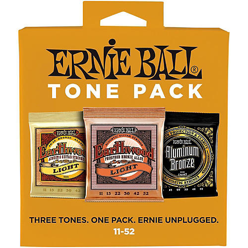 Ernie Ball Ernie Ball Light Acoustic Guitar String Tone Pack-thumbnail