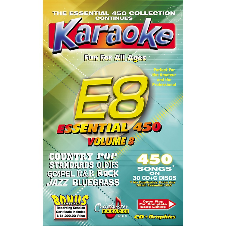 Chartbuster Karaoke Essential 450 Vol. 8 Karaoke CD+G Library