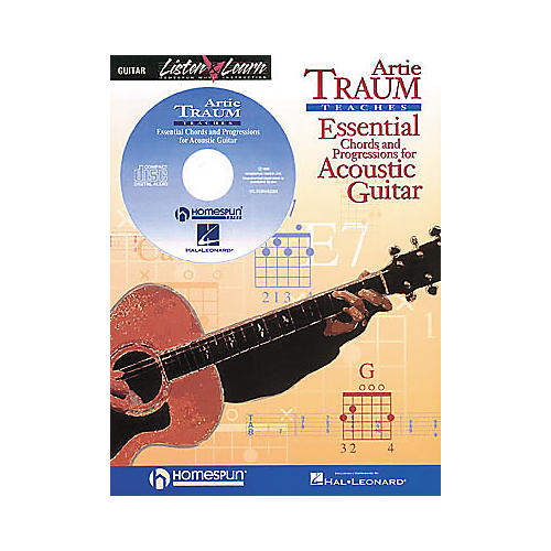 Hal Leonard Essential Chords and Progressions for Acoustic Guitar (Book/CD)