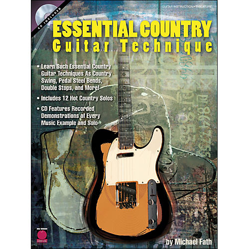 Cherry Lane Essential Country Guitar Technique Book/CD