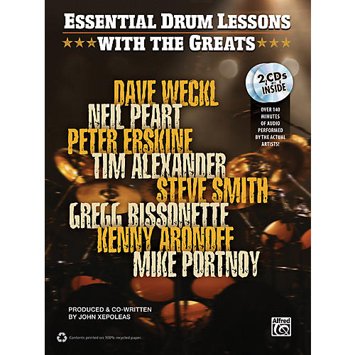 Alfred Essential Drum Lessons with the Greats Book & CD-thumbnail