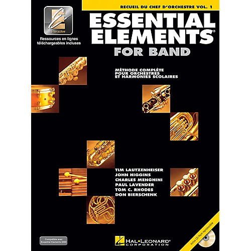 Hal Leonard Essential Elements 2000 Plus DVD (Conductor's Score - French Edition) Concert Band-thumbnail