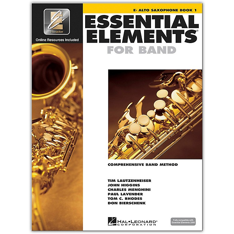 Hal Leonard Essential Elements For Band - Alto Saxophone Book 1 With EEi (Book/CD-ROM)
