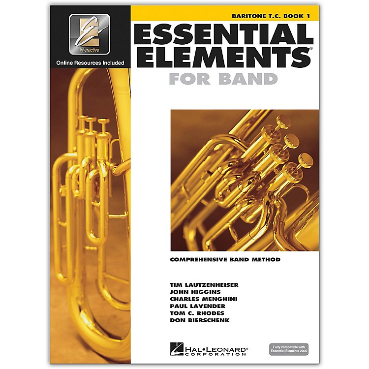 Hal Leonard Essential Elements For Band - Baritone TC Book 1 With Eei (Book/CD-ROM)