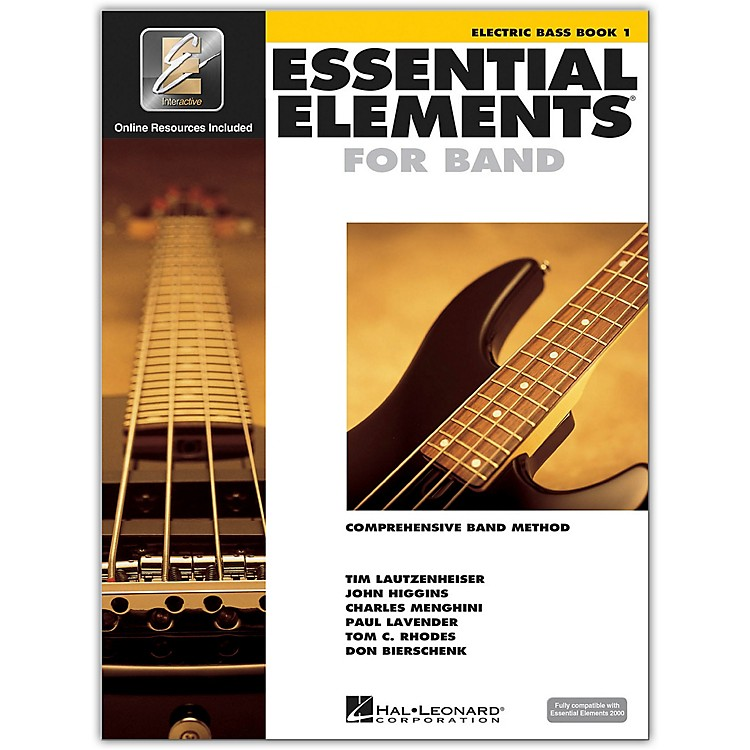 Hal Leonard Essential Elements For Band - Electric Bass Book 1 With EEi (Book/CD-ROM)