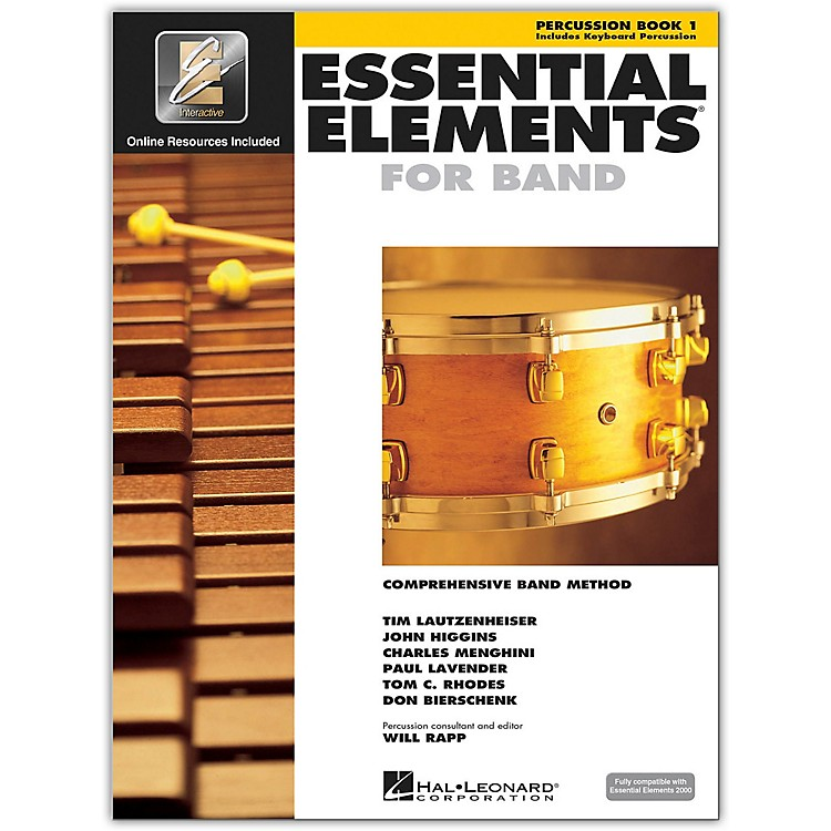 Hal Leonard Essential Elements For Band - Percussion Book 1 With EEi (Book/CD-ROM)