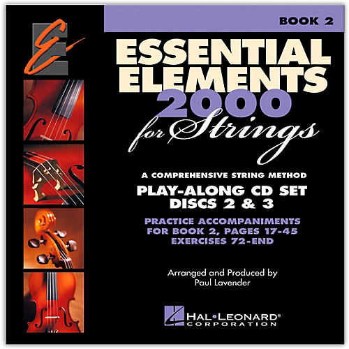 Hal Leonard Essential Elements For Strings Play Along CD Set (Book 2, Disc 2 and 3 )-thumbnail