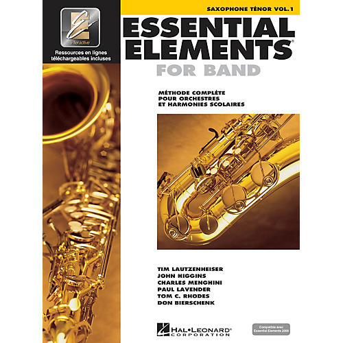 Hal Leonard Essential Elements French Edition EE2000 Tenor Saxophone Essential Elements for Band Series Book Media Online-thumbnail