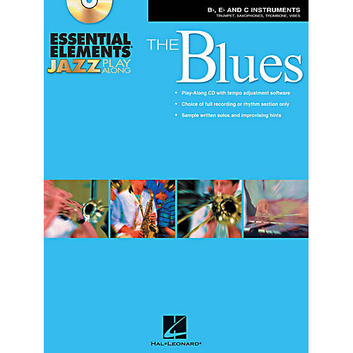 Hal Leonard Essential Elements Jazz Play-Along - The Blues (B-Flat, E-Flat, and C-Instruments) Book/CD-thumbnail