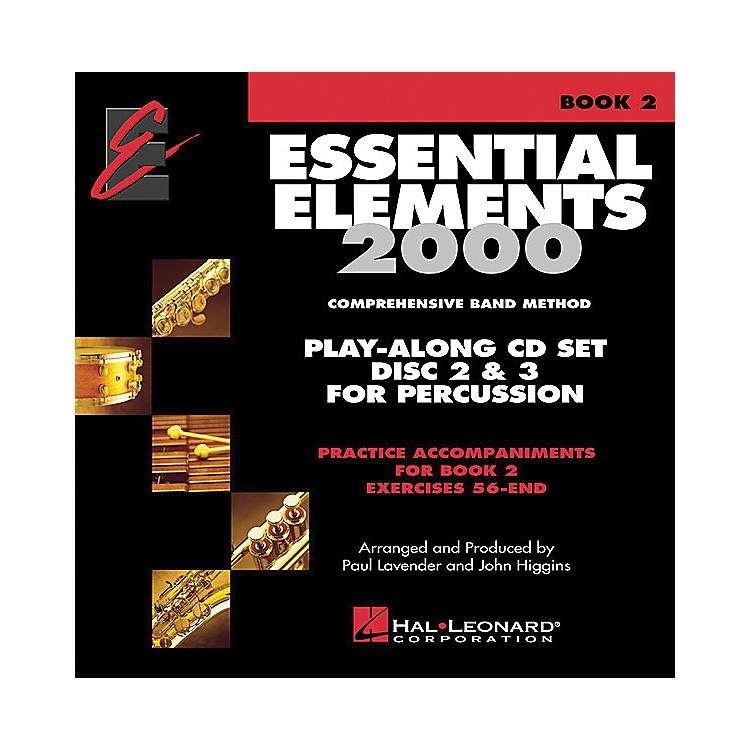 Hal Leonard Essential Elements Play Along CD Trax For Book 2 Percussion