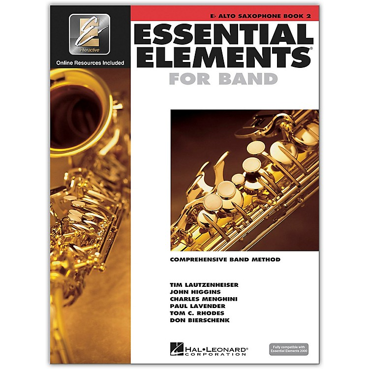 Hal Leonard Essential Elements for Alto Saxophone (Book 2 with CD) Book 2, Alto Saxophone