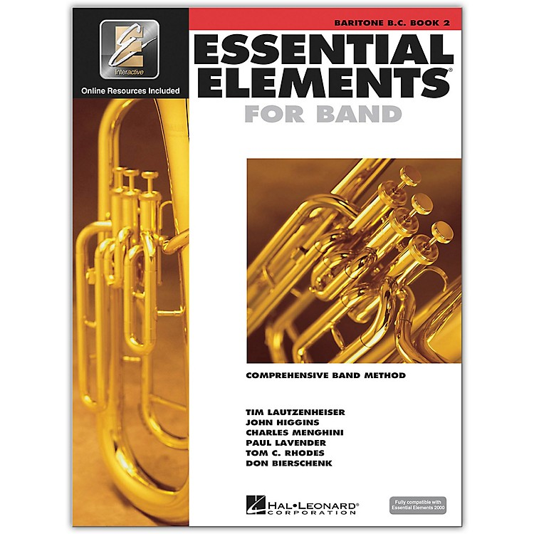 Hal Leonard Essential Elements for Baritone Bass Clef (Book 2 with CD)
