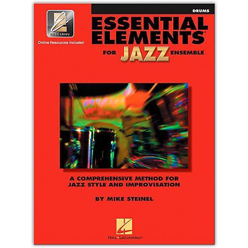 Hal Leonard Essential Elements for Jazz Ensemble - Drums (Book/Online Audio)-thumbnail