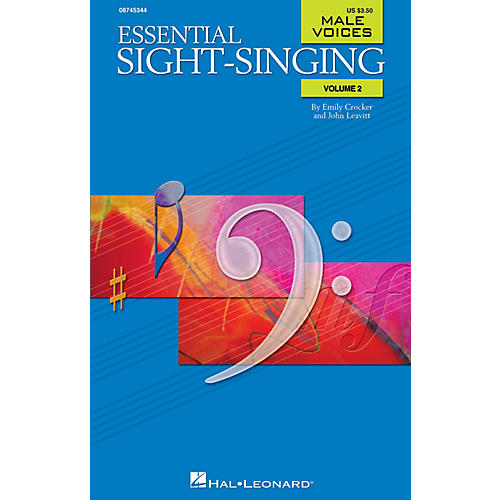 Hal Leonard Essential Sight-Singing Volume 2 Male Voices TB-thumbnail