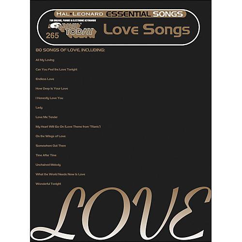 Hal Leonard Essential Songs - Love Songs E-Z Play 265