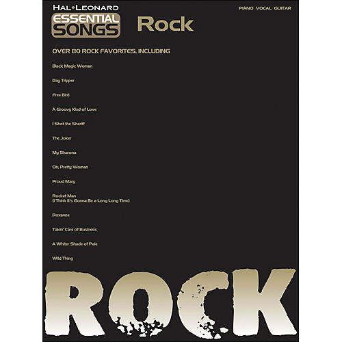 Hal Leonard Essential Songs - Rock arranged for piano, vocal, and guitar (P/V/G)