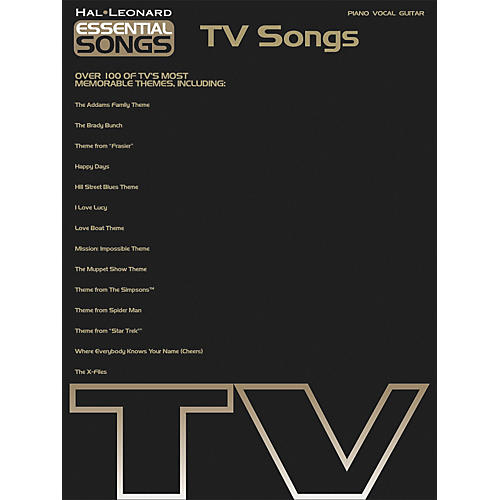Hal Leonard Essential Songs - TV Songs Piano, Vocal, Guitar Songbook
