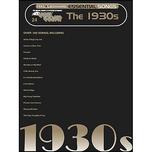 Hal Leonard Essential Songs - The 1930's E-Z Play 24