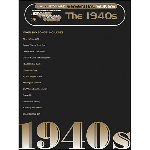 Hal Leonard Essential Songs - The 1940's E-Z Play 25