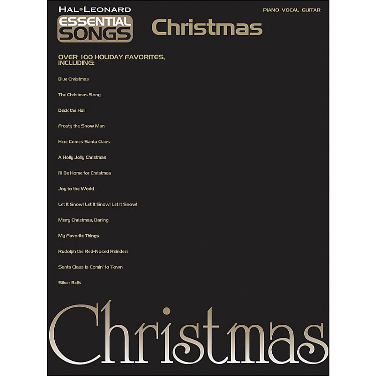 Hal Leonard Essential Songs Christmas arranged for piano, vocal, and guitar (P/V/G)