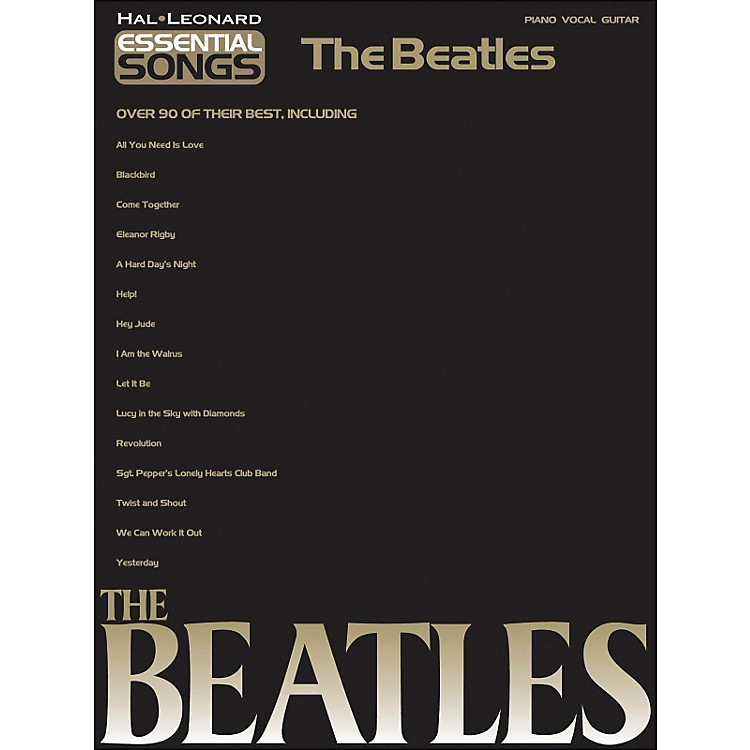 Hal Leonard Essential Songs The Beatles arranged for piano, vocal, and guitar (P/V/G)