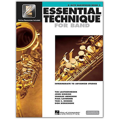 Hal Leonard Essential Technique 2000 Eb Alto Saxophone (Book 3 with CD)