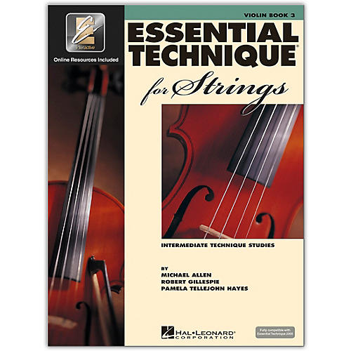 Hal Leonard Essential Technique 2000 For Strings Violin Book 3 Book/CD