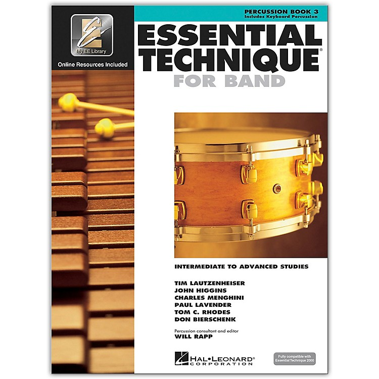 Hal Leonard Essential Technique 2000 Percussion (Book 3 with CD)