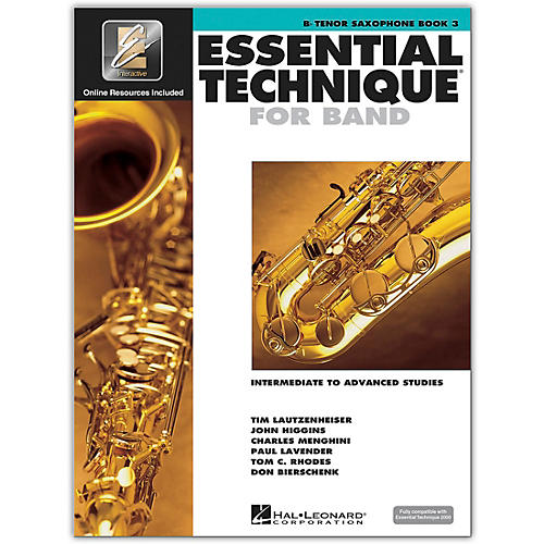 Hal Leonard Essential Technique 2000 Tenor Saxophone (Book 3 with CD)