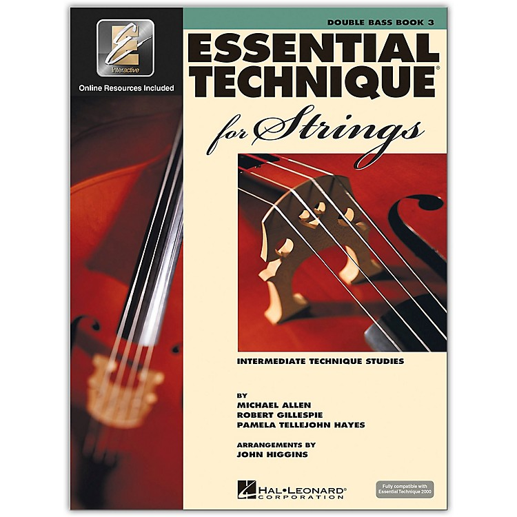Hal Leonard Essential Technique 2000 for Strings - Double Bass 3 Book/CD