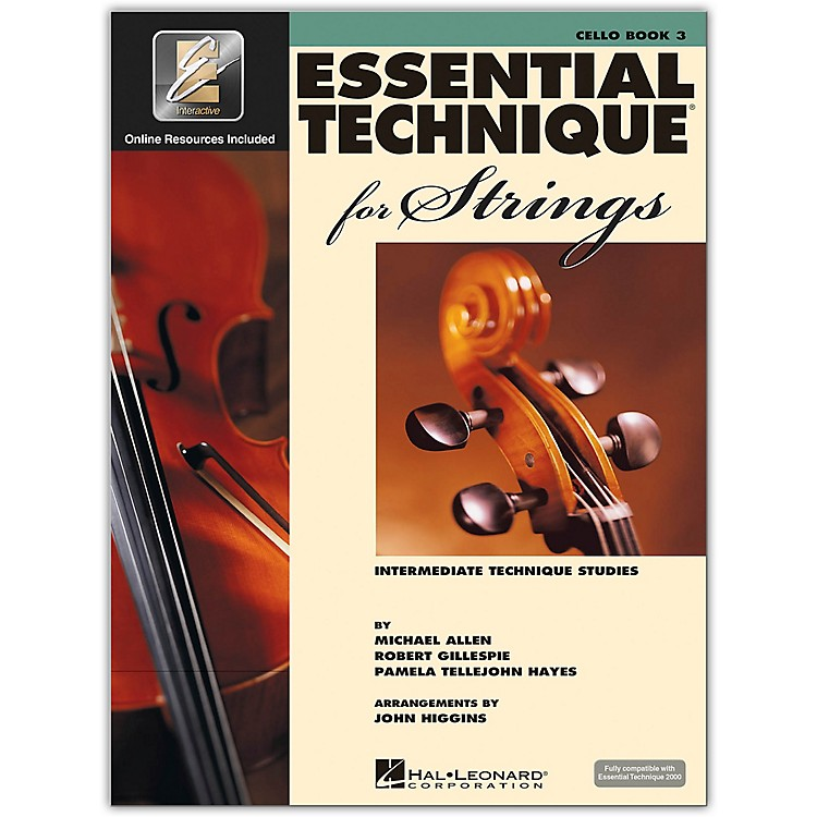 Hal Leonard Essential Technique 2000 for Strings Cello Book 3 Book/CD