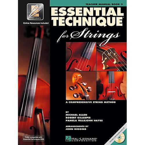 Hal Leonard Essential Technique 2000 for Strings Teacher's Manual Book/CD