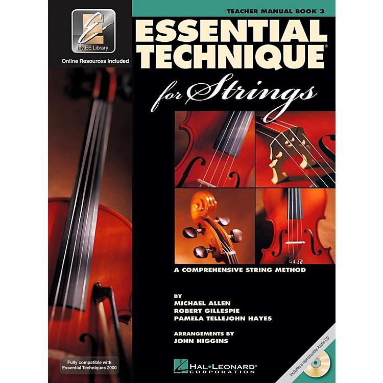 Hal LeonardEssential Technique 2000 for Strings Teacher's Manual Book/CD