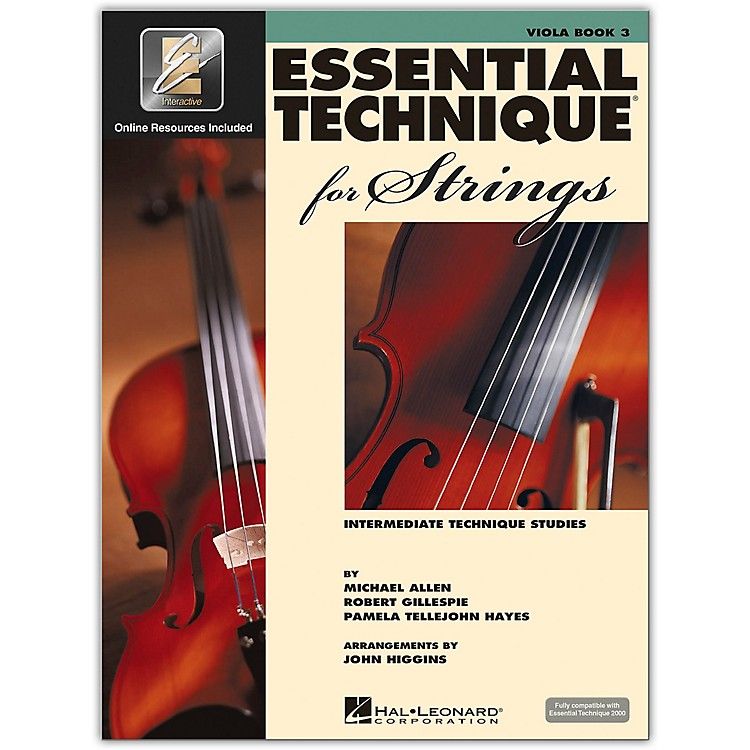 Hal Leonard Essential Technique 2000 for Strings Viola Book 3 Book/CD