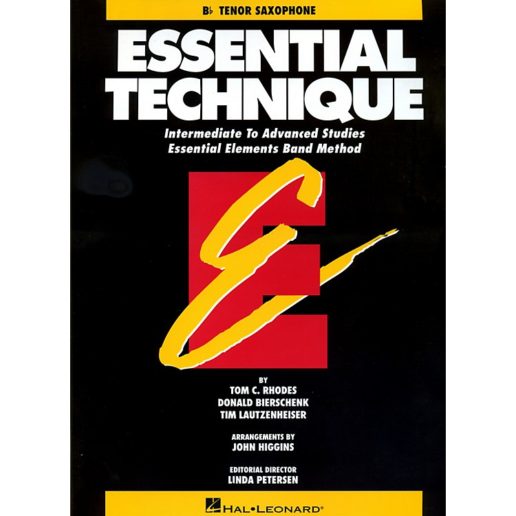 Hal Leonard Essential Technique For B Flat Tenor Saxophone - Intermediate To Advanced Studies