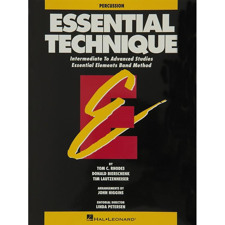 Hal LeonardEssential Technique Percussion Intermediate To Advanced Studies