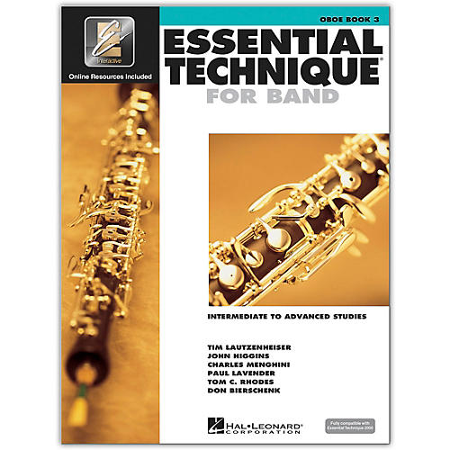 Hal Leonard Essential Technique for Band - Oboe (Book 3 with EEi)