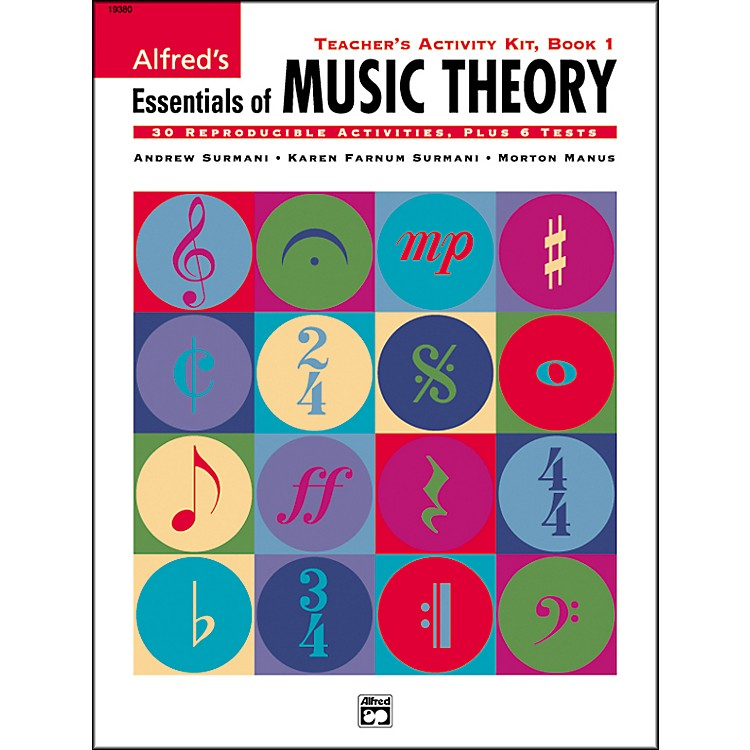 Alfred Essentials Of Music Theory Series Teacher Activity Book 1