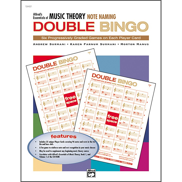 Alfred Essentials of Music Theory Double Bingo Note Names
