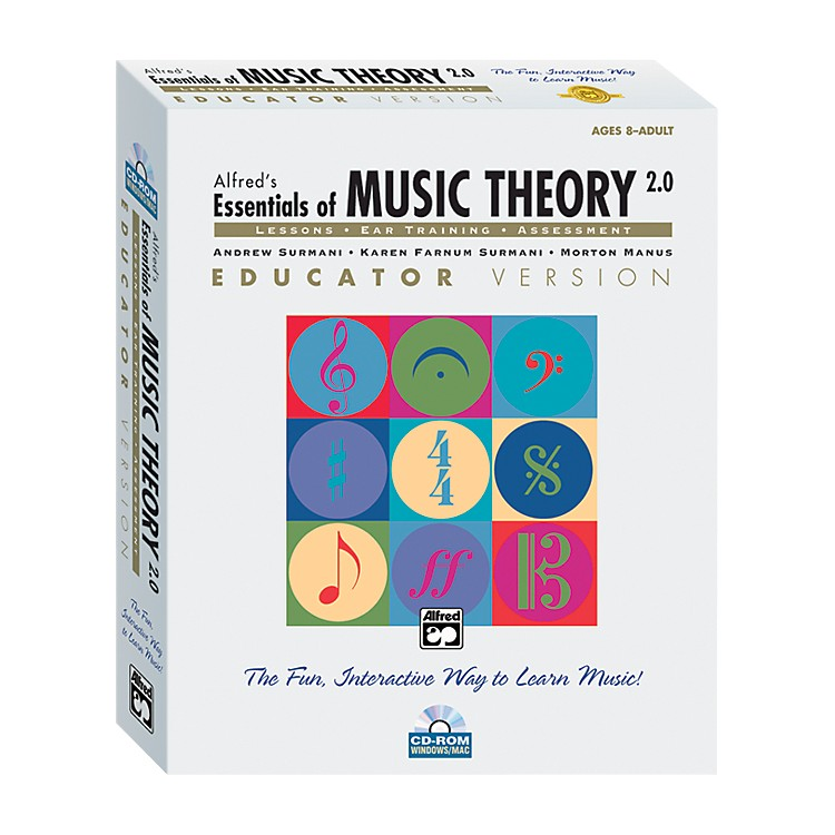 Alfred Essentials of Music Theory: Software Version 2.0 CD-ROM Educator Version Volume 1
