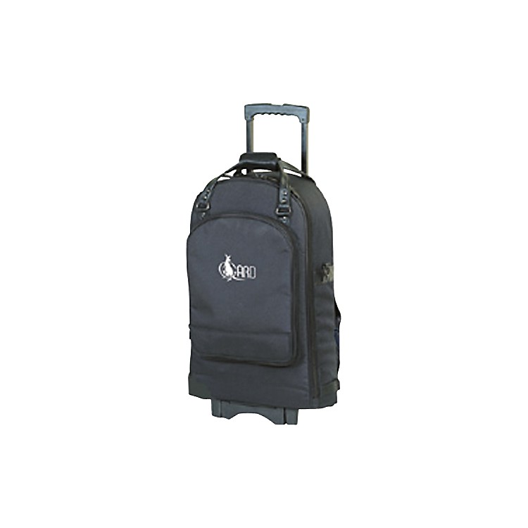 AlloraEuphonium Wheelie Bag52-WBFSK Black GardSynthetic w/ Leather Trim