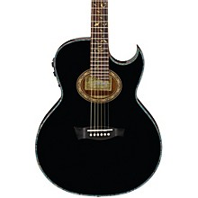Ibanez Euphoria Steve Vai All Solid Wood Signature Acoustic-Electric Guitar Level 1 High Gloss Black Pearl