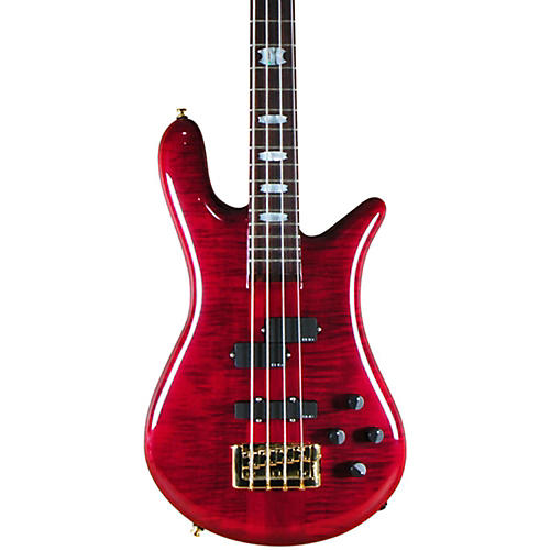 Spector Euro 4 LX 4-String Bass Black Cherry Gold Hardware