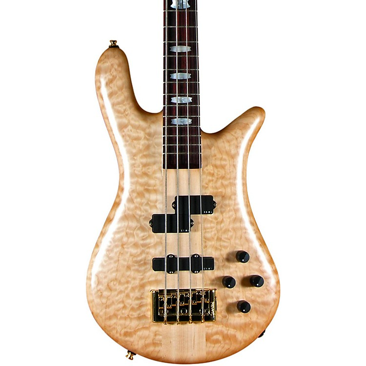 Spector Euro 4 LX 4-String Bass Natural Oil Gold Hardware