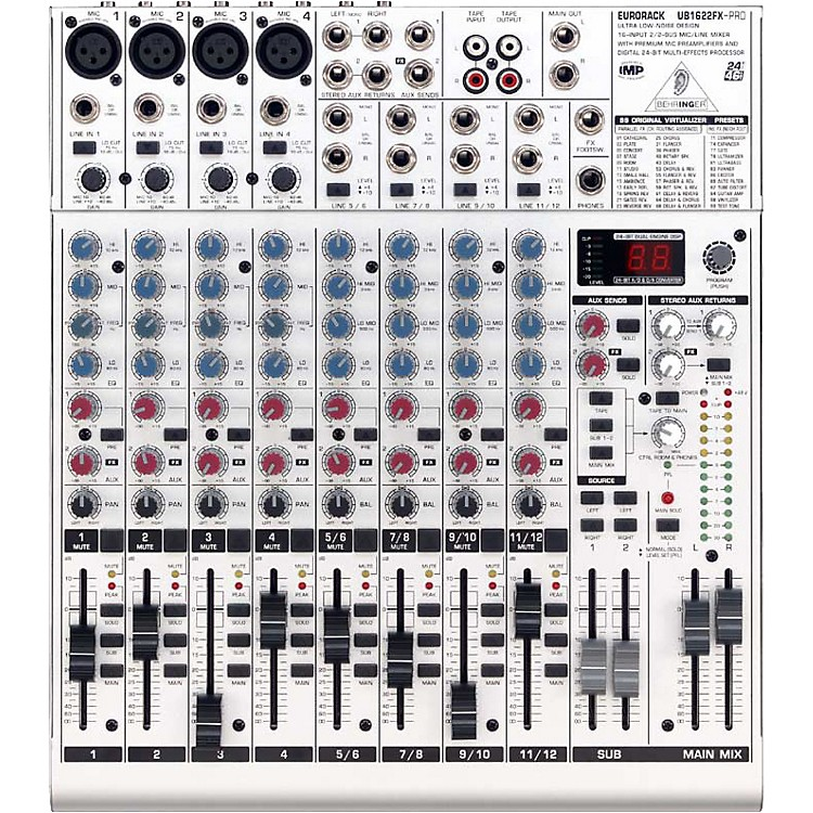 BehringerEurorack UB1622FX-PRO 16-Input Mixer