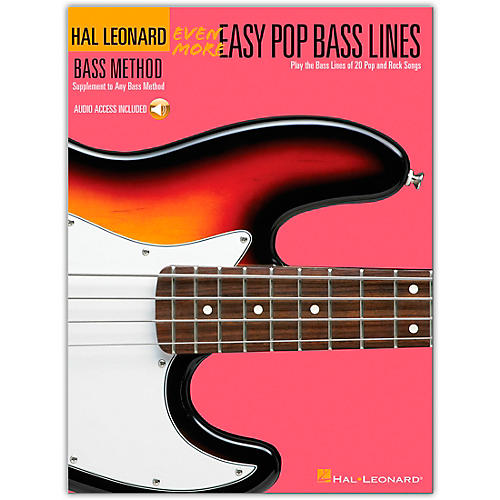 Hal Leonard Even More Easy Pop Bass Lines Book with Online Audio